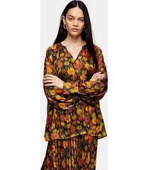 *orange floral smock top by topshop boutique - orange