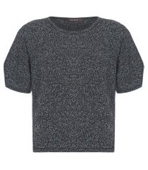 camiseta feminina flake - preto