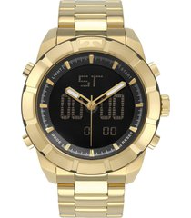 relógio technos performance masculino bj3340ac4p dourado
