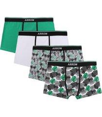 boxer 4 unidades design verde arrow