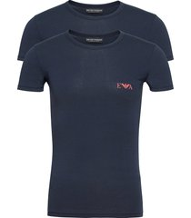 t-shirt t-shirts short-sleeved blå emporio armani