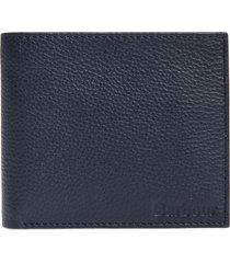 men's barbour amble leather rfid wallet - blue