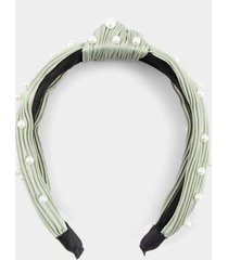 melony top knot pearl headband - mint