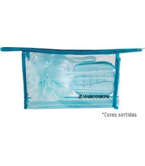 marco boni practice kit - nécessaire + porta escova dental + saboneteira + esponja kit