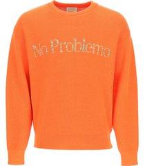 aries space dye no problemo sweater