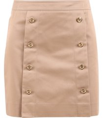givenchy button fastening skirt