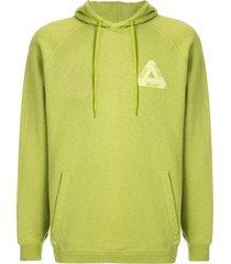 palace slub hoodie - green