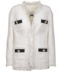 tweed jacket with fringes
