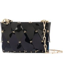 paco rabanne diamond chain-link tote bag - blue