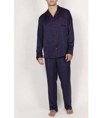 pyjama's / nachthemden admas for men pyjama satijnen broek shirt classic admas