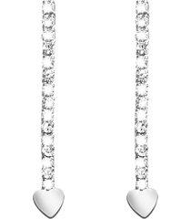 orecchini in metallo rodiato e cristalli per donna