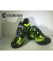 zapatillas para ciclismo de mtb smart sm3 sm0006m verde negra