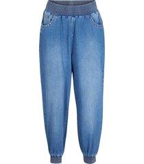 jeans cropped con cinta comfort loose fit (blu) - bpc bonprix collection