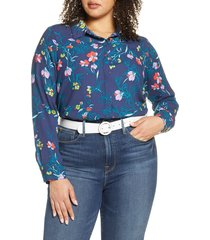 plus size women's halogen button-up blouse