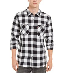 levi's men's buffalo plaid flannel shirt