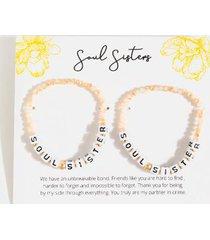 soul sisters beaded bracelet set - ivory