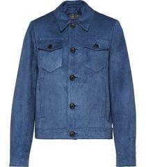 prada multi-pocket shirt jacket - blue