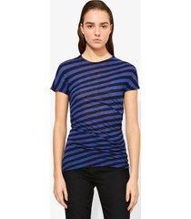proenza schouler stripe twisted t-shirt cobalt/black/blue xl
