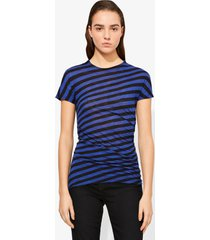proenza schouler stripe twisted t-shirt cobalt/black/blue m