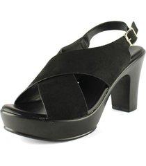 sandalia cruzada soft negra takones