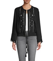 embroidered cutout jacket