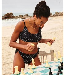 hunkemöller scallop goddess tanga-bikiniunderdel svart