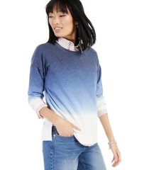 style & co dip-dyed sweatshirt, created for macy's