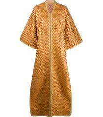 a.n.g.e.l.o. vintage cult 1970 pre-owned kimono-style tunic - orange
