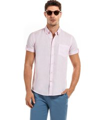 camisa manga corta marrakesh rosa new man