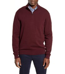 cutter & buck lakemont half zip sweater, size 1xb in bordeaux at nordstrom