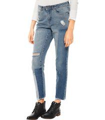 jeans only lima patch largo 32 azul - calce ajustado