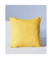 capa de almofada togo cor: amarelo - tamanho: único