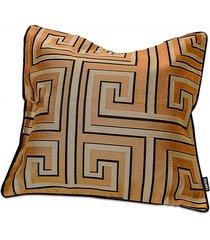 capa para almofada em jacquard mirage geométrica 50x50cm dourada