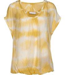 blouse w. gatherings blouses short-sleeved geel coster copenhagen