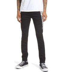 men's cult of individuality punk men's super skinny fit stretch jeans, size 38 - black