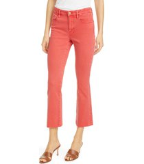 women's frame le crop mini bootcut high waist jeans