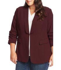 plus size women's vince camuto moss crepe blazer, size 16w - purple