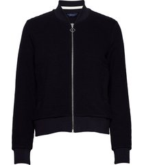 d1. jersey structure jacket sweat-shirt trui blauw gant