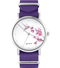 zegarek - koliber, oznaczenia - fiolet, nylonowy