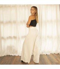pantalon marfil para mujer biles pantalon biles-beige-s