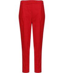 pantalón unicolor básico color rojo, talla 12