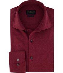cavallaro overhemd bordeaux rood jersey