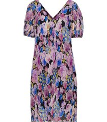 pleated georgette knälång klänning multi/mönstrad ganni