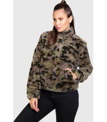 chaqueta everlast magazine verde - calce regular