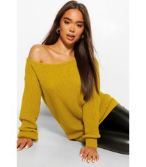 slash neck sweater, olive