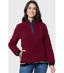 sweater nautica burdeo - calce regular