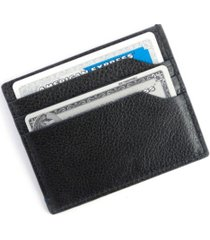 men's royce new york pebbled leather credit card case