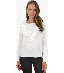 blusa juanita en v blanca jacinta tienda