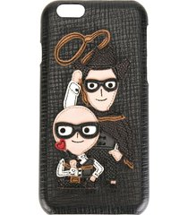 dolce & gabbana western designers patch iphone 6 case - black