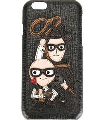dolce & gabbana western designers patch iphone 6 case - black